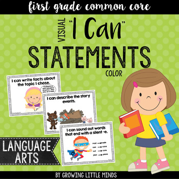 "Visual ""I Can"" Statements for the ELA Common Core Standards- Color"
