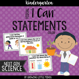 """Visual """"I Can"""" Statements for the Kindergarten Next Gen Sc"""