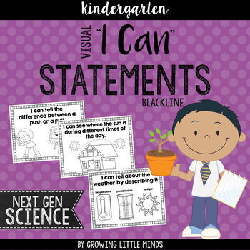 "Visual ""I Can"" Statements for the Kindergarten Next Genera"