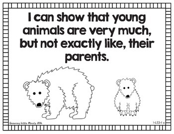 """Visual """"I Can"""" Statements for the 1st Grade Next Gen Science Standards-blackline"""