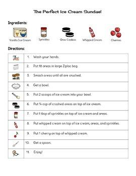 Visual Ice Cream Sundae Recipe