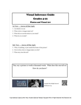 Visual Inference Guides - Analysis Tools for Photos, Short Film, Fine Art, +More