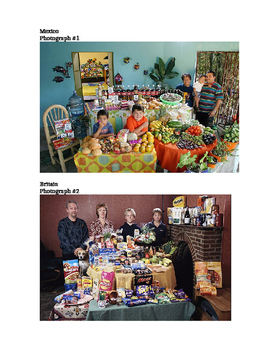 Visual Inference Practice - What Families Eat Set #1 (Center / Station Activity)