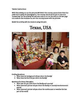 Visual Inference Practice - What Families Eat Set #2 (Center / Station Activity)