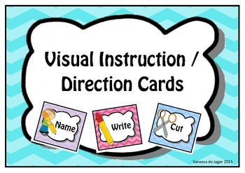 Visual Instruction Direction Cards