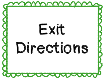 Visual Instruction Posters (Exit Directions)
