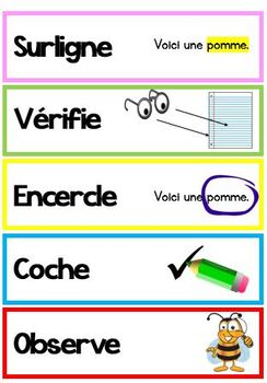 Visual, Step-by-step instructions - Flashcards- Étapes d'instructions