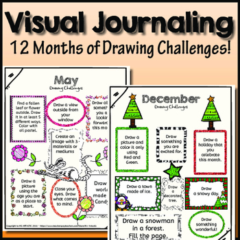 Visual Journal: Full Year of Drawing Prompts