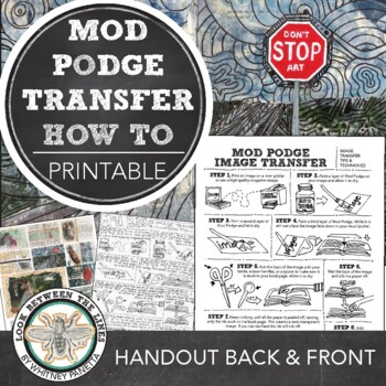 Visual Journal or Art Journal Assignments: Mod Podge Image Transfer Instructions