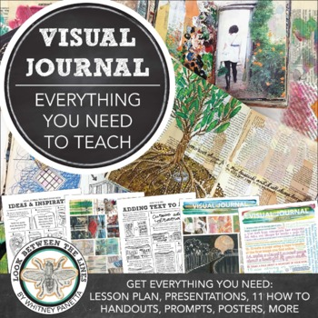 Visual Journal Bundle Pack: Middle or High School Year Long Visual Art Project