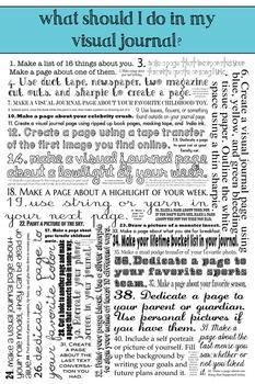 Visual Journal Challenge Poster: Sparking Art Journal Ideas