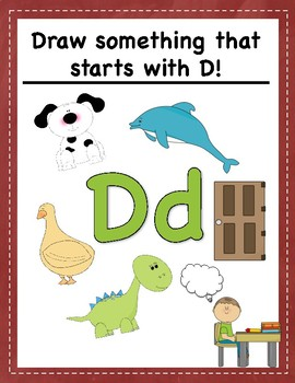 Visual Journal Prompts for Pre-K and K: ABCs