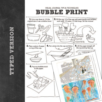 Visual Journal or Art Journal How To: Bubble Paint Prints
