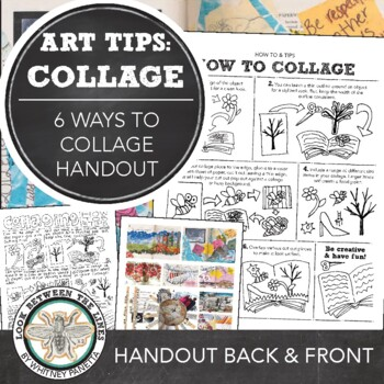 Visual Journal or Art Journal Introduction: HS or MS Six Ways to Better Collage