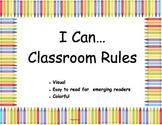 Visual Kindergarten Class Rules