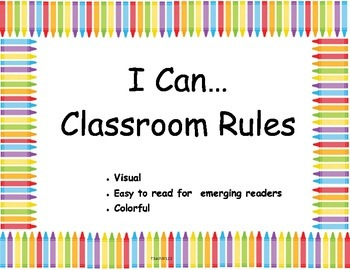 Visual Kindergarten Class Rules
