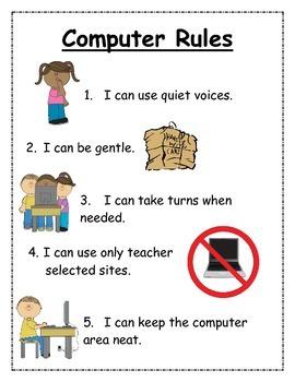 Visual Kindergarten Computer Rules