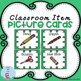 Classroom Items Picture Cards