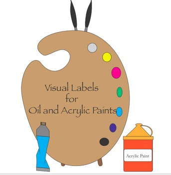 Visual Labels for Acrylic and Oil Paints