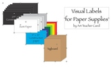 Visual Labels for Paper Supplies
