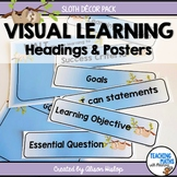Visual Learning Statement Posters Sloth Decor EDITABLE