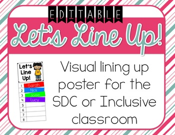 Visual Lining Up Classroom Poster for the SDC or Inclusive Classroom