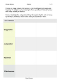 Visual Literacy - Analysis of Humour - Worksheet