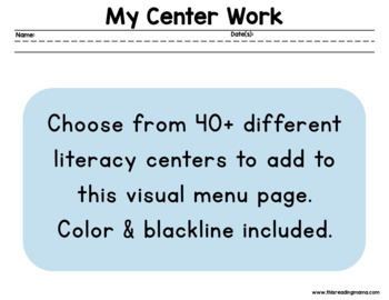 Visual Literacy Center Menu