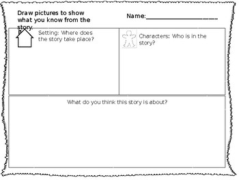 Setting, Characters, and Plot Organizer