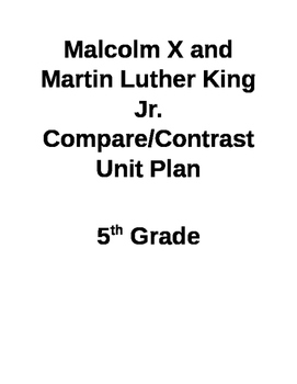 Visual Literacy Unit Plan Martin Luther King JR and Malcolm X