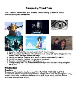 Visual Literacy and Film Study