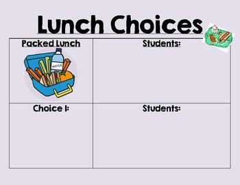 Visual Lunch Choice Board