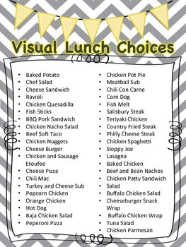 Visual Lunch Choices (grey)