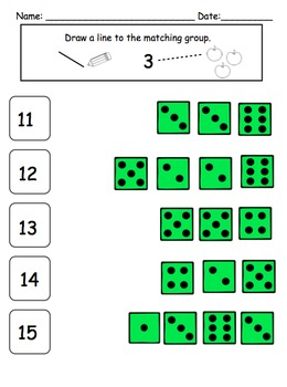 Visual Math Activities {Level 2: 10-20} for Preschool and Kindergarten