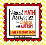 Visual Math Activities for Children with Autism {LEVEL 2: NUMBERS 10-20}