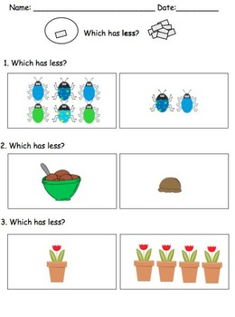 Visual Math Activities {Level 1: 1-10} for Preschool and Kindergarten