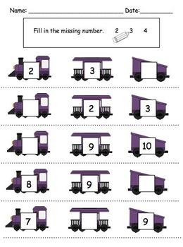 Visual Math Activities {Level 1: 1-10} for Preschool and Kindergarten