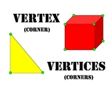 Visual Math Vocab Cards Posters Geometry Common Core 3.G.1