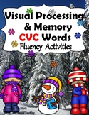 Winter CVC  Reading Fluency Activities RTI (dyslexia)
