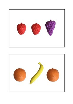 Visual Memory Fruit Cards