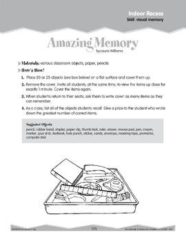 Visual Memory (Ten-Minute Activities)