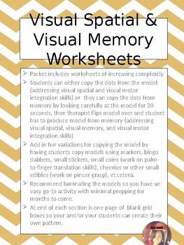 Visual Memory & Visual Spatial Skills Packet