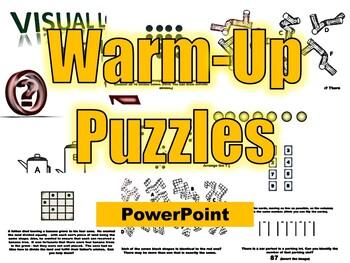 Warm-Up Powerpoint- Brain Puzzles
