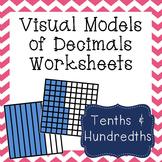 Visual Models of Decimals Worksheets