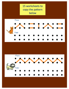 Visual Motor: Copy the Dot Path Worksheets by The Fine Motor Store