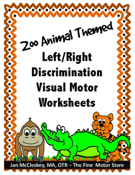 Visual Motor: Left and Right Worksheets by The Fine Motor Store