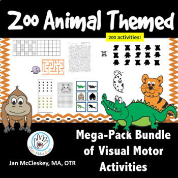 Visual Motor MEGA-PACK:  200 Zoo Animal Activities for The