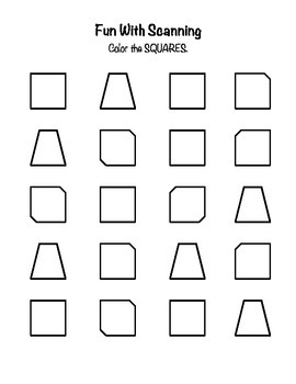 photo regarding Printable Visual Scanning Worksheets for Adults called Visible Engine - Scanning Worksheets via LISA HICKEY TpT