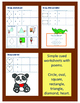 Visual Motor:  Simple Drawing Shapes Worksheets - Zoo Themed