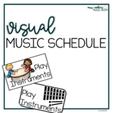 Visual Music Schedule Cards with Google Slides version | Distance Learning